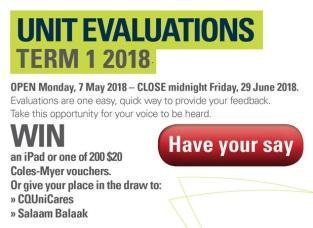 Unit Evaluation T1 2018